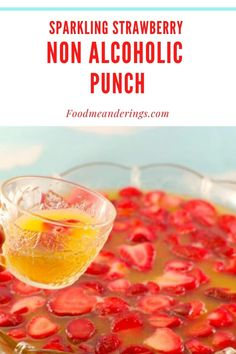 This Sparkling Strawberry Non alcoholic Punch is super quick and easy to make with only 4 ingredients, including Gingerale, orange juice, sparkling water and frozen strawberries, which also serve as the ice cubes. Kid-friendly, it's perfect for baby showers, family BBQ's, baby showers and birthday parties! Weight Watchers friendly @ only 1 WW point on the blue plan per serving! #punch #strawberry #nonalcoholic #drink #potluck #gingerale #7up #orange juice Potluck Dishes, Potluck Recipes, Healthy Dessert Recipes, Summer Recipes, Holiday Recipes, Healthy Meals, Healthy Food, Dinner Recipes, Alcoholic Punch Recipes