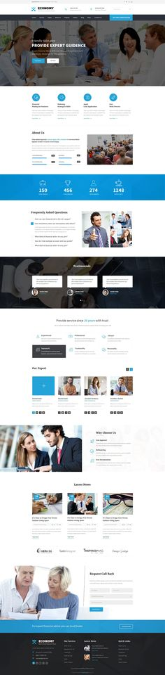 Economy - Finance & Business PSD Template. Here you will get 17 layered PSD with easily customizbale layer with pixel perfect design With 2 different Home version. #insurance #financial #psdtemplate