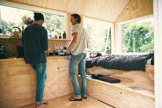 Chats around the water-cooler tiny house style. #tinyhouse #whereyoudratherbe #unyoked