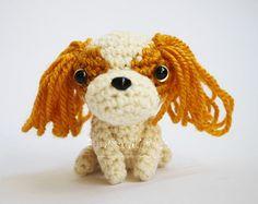 Cavalier King Charles Spaniel Amigurumi Dog Handmade Mini Crochet Puppy Stuffed Animal Doll / Made to Order