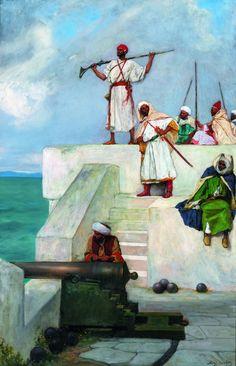 Les soldats du pacha - vers 1880 - Jean-Joseph Benjamin-Constant - Musée des beaux-arts de Montréal | Merveilles et mirages de l'orientalisme