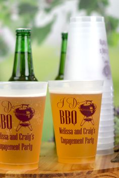 Engagement Party Cups are fun and unique for celebrating your wedding engagement. Perfect for an 'I Do BBQ', these reusable cups can be taken home by guests as a keepsake of your special announcement. I Do Bbq, Christmas Albums, Party Cups, Bbq Party, Party Guests, Wedding Engagement, Announcement, Savannah, Unique
