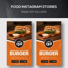 Instagram Banner, Food Instagram, Instagram Story, American Fast Food, Food Poster Design, Simple Business Cards, Food Menu, Blog, Food Food