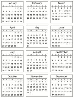 2017 Mini table calendars desk planner agenda calendar paper ...