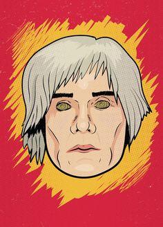 ilustrações pop cartoon mad mari andy warhol