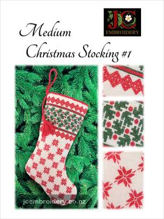 At top-to-toe, this stocking is stitched in Ukrainian style. Big enough to hold those special little items, but small enough to still hang on the tree or mantel. Top To Toe, Embroidery Techniques, Easy Projects, Christmas Stockings, Stitch, Big, Holiday Decor, Style, Needlepoint Christmas Stockings