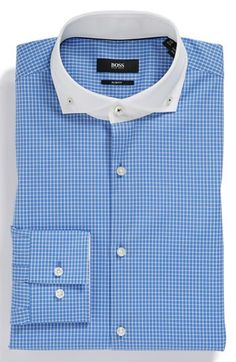 ca7d6eeb1b9d BOSS HUGO BOSS  Jennis  Slim Fit Easy Iron Dress Shirt available at   Nordstrom