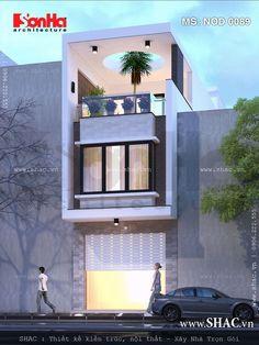 Kiến trúc nhà phố hiện đại 3 tầng