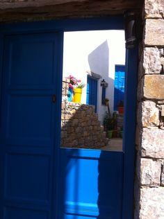 Take a sneak pic of inside.. Lagkada village of Amorgos island