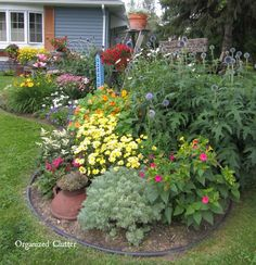 beautiful front yard flower gardens - Google Search