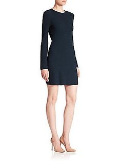 Theory Ardesia Rib-Knit Dress - Dark Mineral