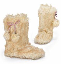 Victorias Secret PINK faux pom-pom slippers<3 Love!!