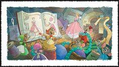 Disney Fine Art - Sew Beautiful. Cinderella. Biggs Ltd. Gallery. Heirloom quality bridal, art, baby gifts and home decor. 1-800-362-0677. $550.