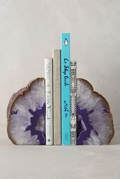 Hand-Cut Agate Bookends - anthropologie.com