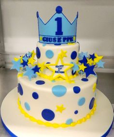 1st birthday cake fit for a prince!