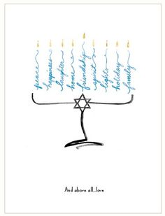 Custom Hanukkah card from Expressionery - really sweet design