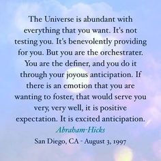 Abraham Hicks words in this quote says it all! We are abundant. We are always provided for. #quote #abrahamhicks #prosperity #abundance #loveismoney #rich #witch
