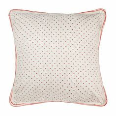 Cheri Cotton Continental Pillow Case. The Cheri continental cotton pillow case is the perfect shade of red to add colour and romance to a neutral interior.