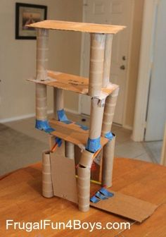 Building Activity for Kids: Straws and Paper Towel Rolls - Frugal Fun For Boys