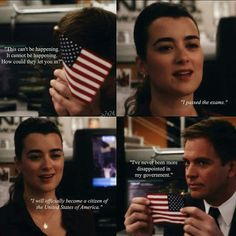 Well, Canada is open to everyone, and there's always room for an ex-Mossad agent who is also a highly skilled assassin. Ncis Series, Serie Ncis, Tv Series, Michael Weatherly, Tv Quotes, Movie Quotes, Ziva And Tony, Gibbs Rules, Ncis Cast
