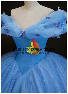 Cinderella 2015 Organza With Boning Cosplay Costume