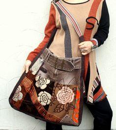 Fantasy hippie patchwork bag recycled by jamfashion on Etsy