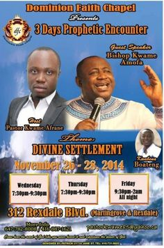 DOMINION FAITH CHAPEL-3 Days Prophetic Encounter