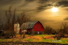 Red Barn in Spring 66 image 0 Farm Paintings, Landscape Paintings, Country Paintings, Mountain Paintings, Art Mural Photo, Barn Photography, Barn Pictures, Country Barns, Country Living