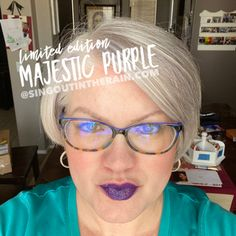Limited Edition Majestic Purple LipSense by SeneGence is a cool color. You can view it on people, look at combos or comparisons or even in a collage.  However, nothing rivals seeing it on a real person.  Click to purchase yours NOW!  #lipsense #senegence