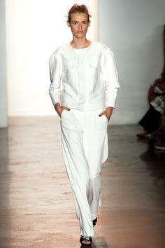 Masculine white by Peter Som | Spring 2014 Ready-to-Wear Collection | Style.com