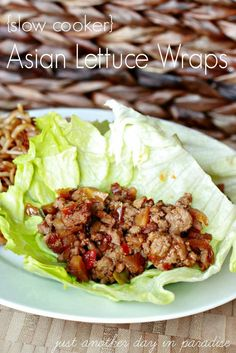 Slow Cooker Asian Lettuce Wraps, great, no carb meal option! BlogLovin #SlowCooker