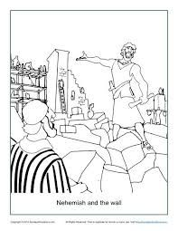 bible coloring page nehemiah and the wall
