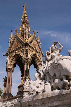 Albert Memorial in Hyde Park. London, England,