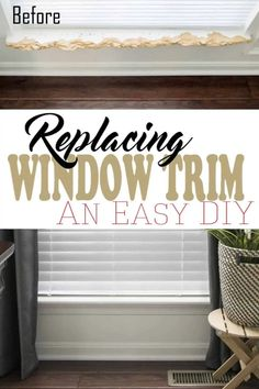 Crisp window trim and sills make a wall paint shine as well as curtains. Repairing and caulking window trim doesn't have to be scary with these pro tips for replacing window sills and trim. #window #homeimprovement #woodwork Window Sill Trim, Interior Window Sill, Interior Windows, Installing Wainscoting, Window Benches, Wall Molding, Moulding, Window Replacement, Window Repair