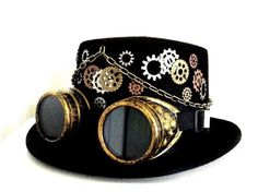 Image result for steampunk top hat and goggles