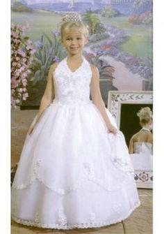nek v halster organza jurk stijl te verkopen heet bloem meisje jurken
