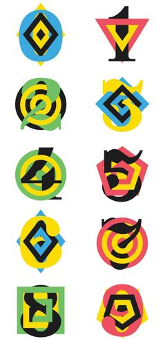 targeted numerals #numbers #typography