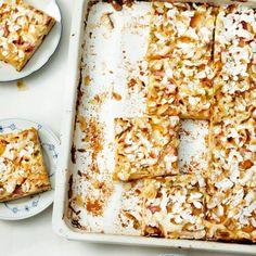 ESSEN & TRINKEN - Aprikosen-Rhabarber-Kuchen vom Blech Rezept
