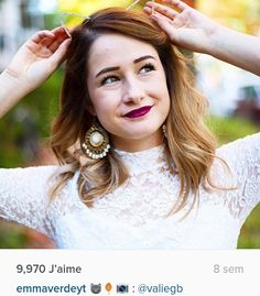 Emma Verde Emma Verde, Youtubers, Super Belle, Hair Styles, Pretty, People, Images, Nails, Cool Stuff