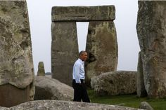 President Barack Obama visits Stonehenge after leaving the NATO summit in Newport, Wales, Friday, Sept. 5, 2014