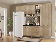 Cozinha Compacta Multimóveis Sicilia - com Balcão 9 Portas 3 Gavetas
