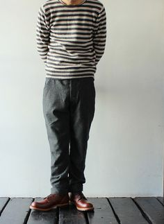[KATO`] Wool Pants