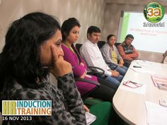 Participants listening to the views of Mr. Prakash Arya, AVP-MARCOM in the HR Induction & Training Workshop.