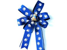 Golden retriever gift wrap bow Gift for a dog by JDsBowCreations