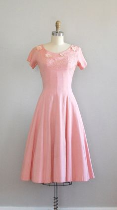 Vintage 1950s dress | Maybe Baby linen dress