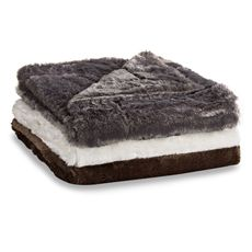 Bed Bath and Beyond Snowy Soft Throw Blanket, Faux Fur, Chocolate $39.99