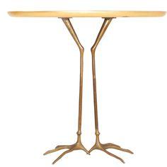 Traccia Pedestal Table by Dino Gavina | 1stdibs.com