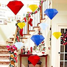 Find More Pendant & Drop Ornaments Information about New Arrival Diamonds Paper Party Decoration Birthday Wedding Hall Decor Hanging Pendant Centerpiece Festival Party Ornament,High Quality ornamental products,China ornaments fabric Suppliers, Cheap party hammer from Hangzhou Sunbeauty Arts & Crafts Co., Ltd. on Aliexpress.com