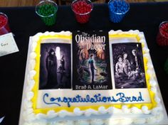 Great cake with photos from the book!