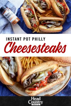 This instant pot easy recipe will be enjoyed by everyone. Philly Cheesesteak sandwich recipe is a great crowd pleaser for game day or a quick weeknight family meal recipe. Try this Instant pot recipe for your next week of meal planning. Quick Easy Dinner, Easy Dinner Recipes, Grilled Steak Recipes, Cooking Instructions, Pot Recipe, Sandwich Recipes, Easy Dinners, Meals For The Week, Cheesesteak